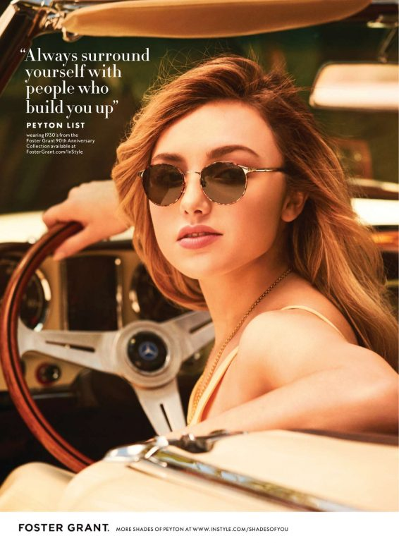 Peyton R List - Foster Grant 90th Anniversary Collection - InStyle US (August 2019)