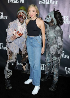 Peyton R List - Knott's Scary Farm Black Carpet in Buena Park