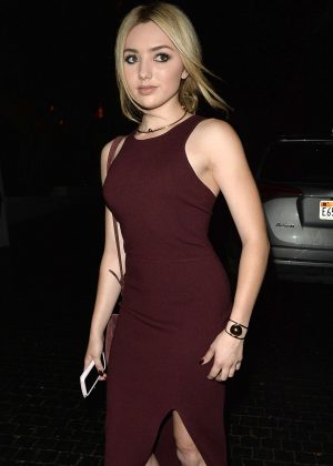Peyton R List - Leaves a Party for Elizabeth and James Store in Los Angeles