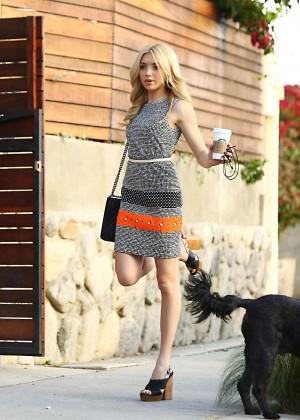 Peyton R List in Mini Dress Out in LA