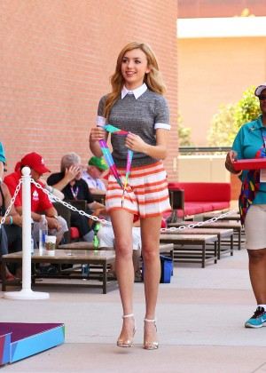 Peyton R List - Special Olympics Track and Field Medal Ceremony in LA