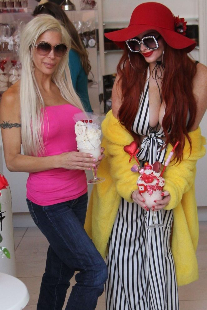 Phoebe Price and Angelique Morgan on Valentine's Day in Beverly Hills