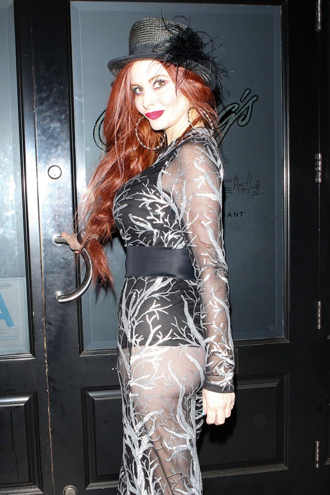 Phoebe Price at Craig's Restaurant in West Hollywood