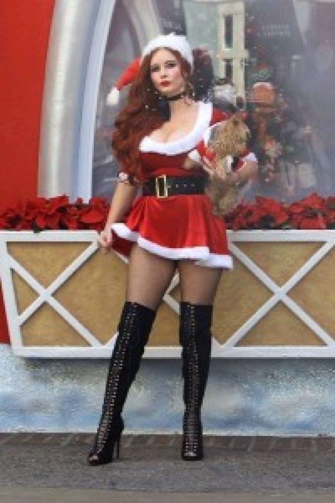 Phoebe Price - Big Black Boots at Santa's Workshop