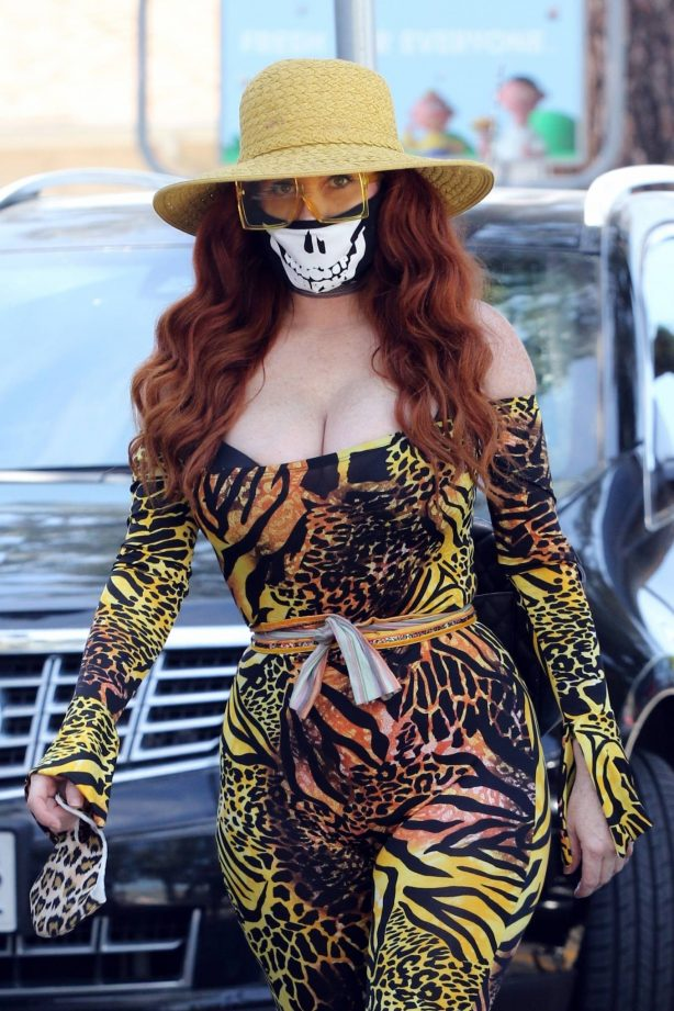 Phoebe Price in Animal Print out in Los Angeles