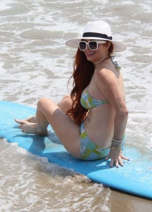 Phoebe Price in Bikini on the beach in Malibu