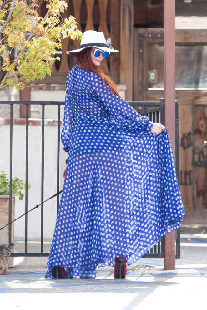 Phoebe Price in Blue Dress -04