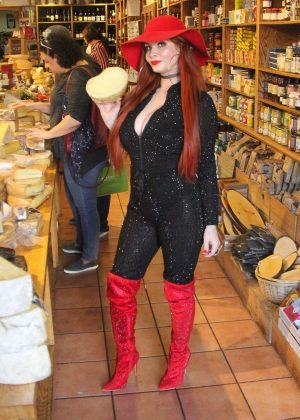 Phoebe Price in Red Boots out in LA
