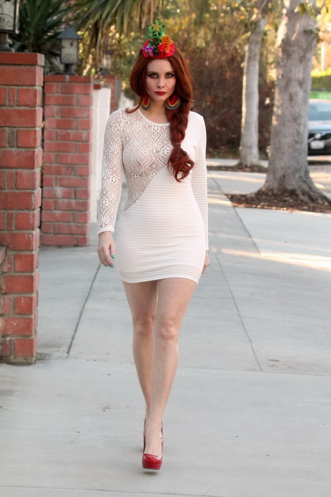 Phoebe Price in Short Dress out Beverly Hills
