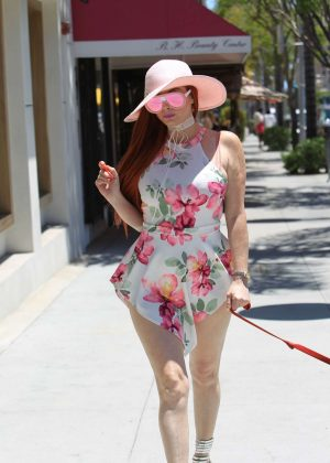 Phoebe Price in Short Dress out in Beverly Hills