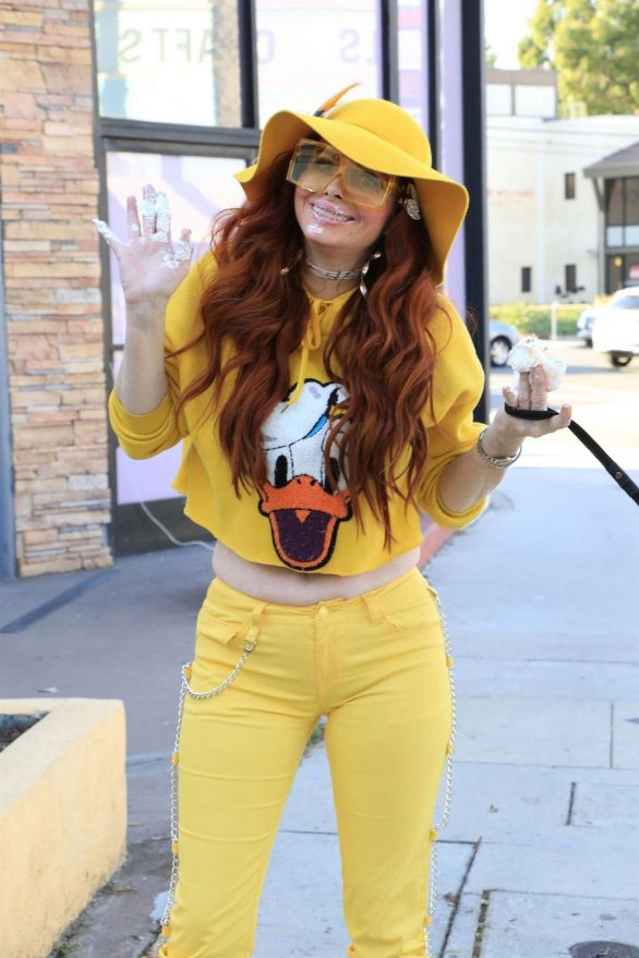 Phoebe Price in Yellow Outfit at Joan's on Third in Los Angeles