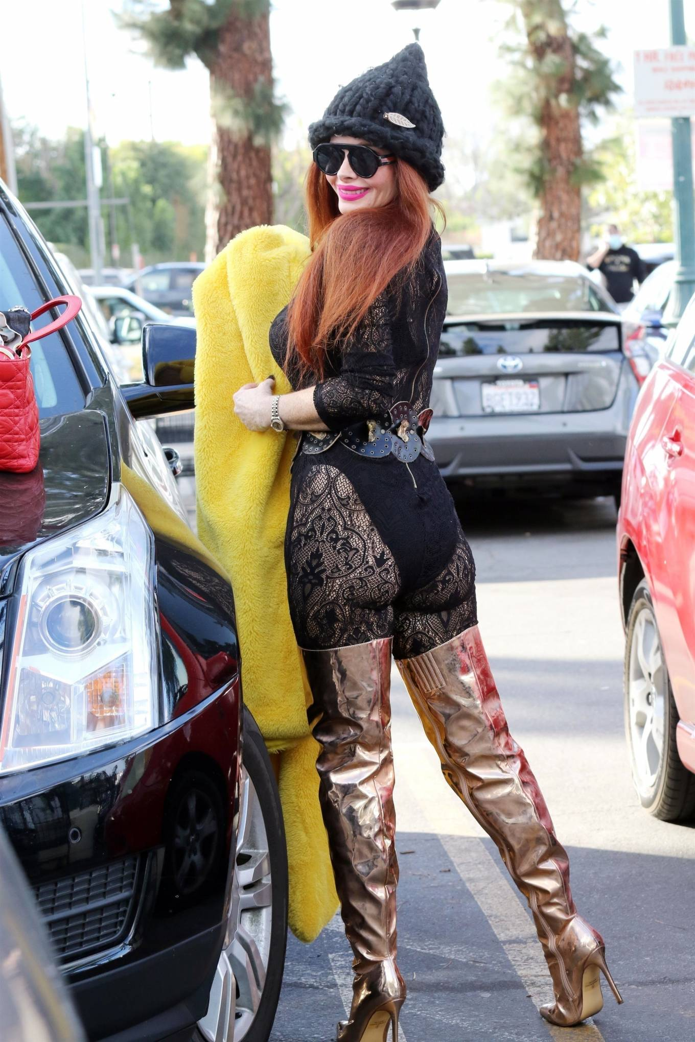 Phoebe Price -  posing at Ralph's in Los Angeles