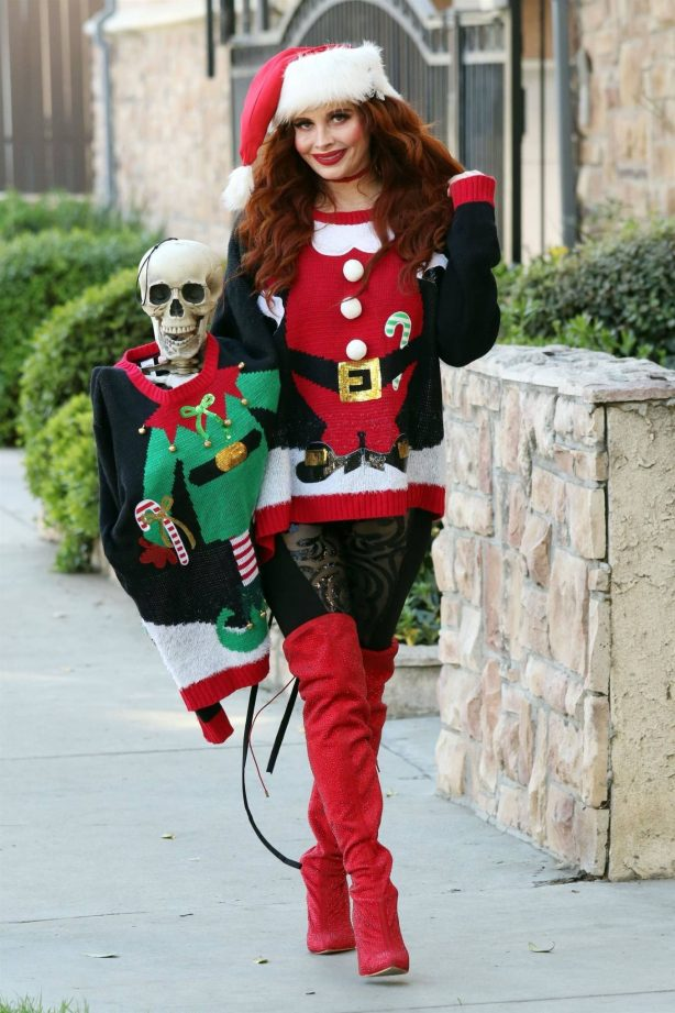 Phoebe Price - Possing in santa outfit