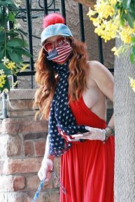 Phoebe Price - Seen taking her dog out