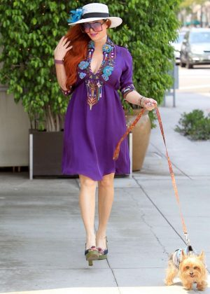 Phoebe Price - Shopping with her dog in Beverly Hills