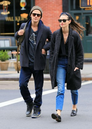 Phoebe Tonkin and Paul Wesley out in NYC