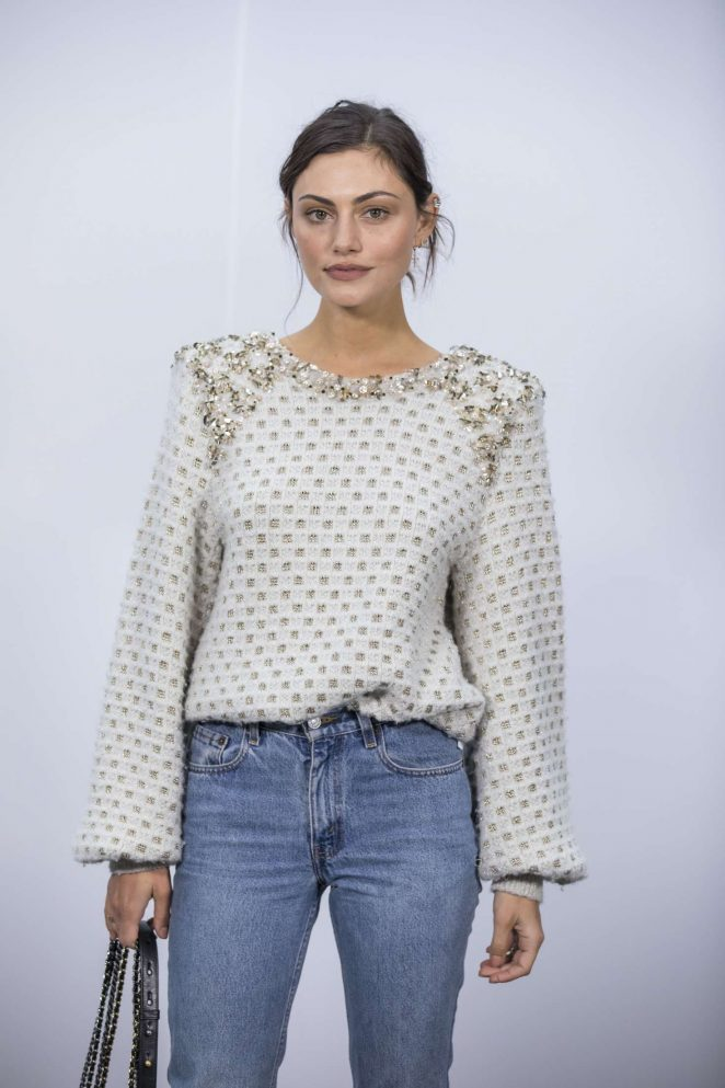 Phoebe Tonkin at Chanel Show 2017 in Paris