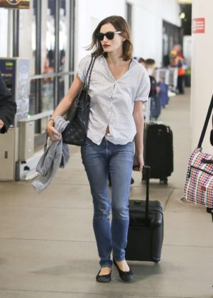 Phoebe Tonkin at LAX Airport in Los Angeles