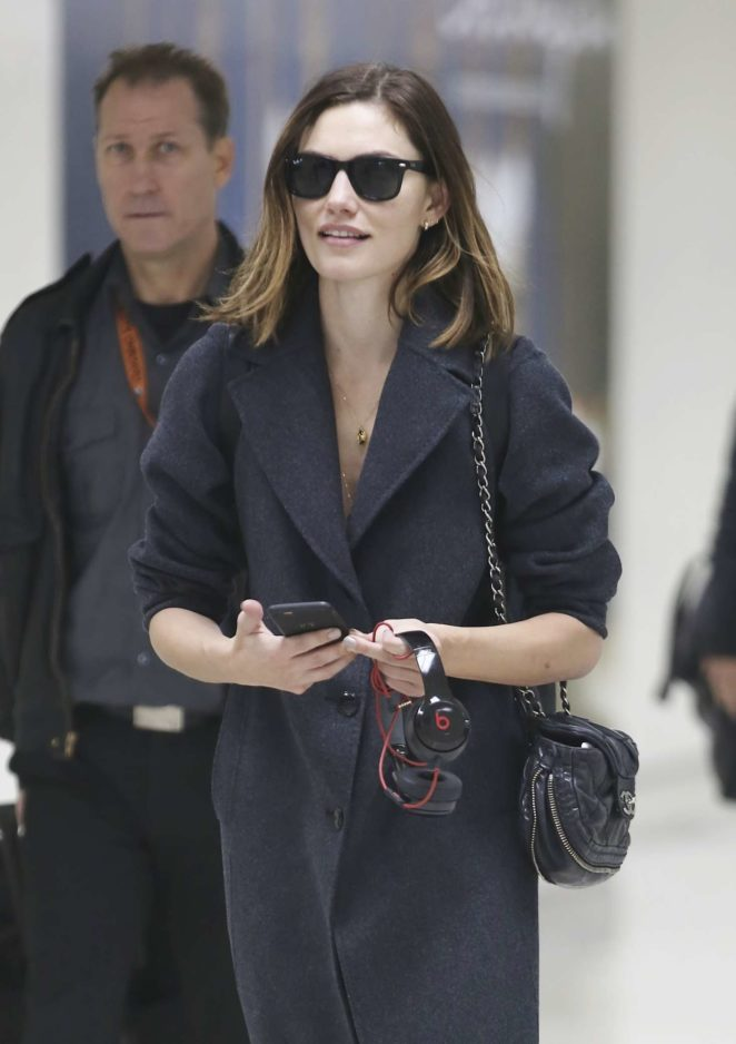 Phoebe Tonkin at LAX International Airport in Los Angeles