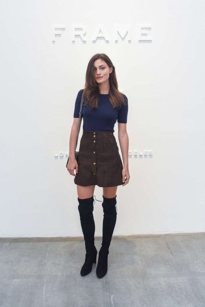 Phoebe Tonkin - FRAME Denim Fashion Show Spring 2016 NYFW in NYC