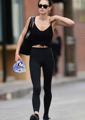 Phoebe Tonkin in Tights out in Los Angeles