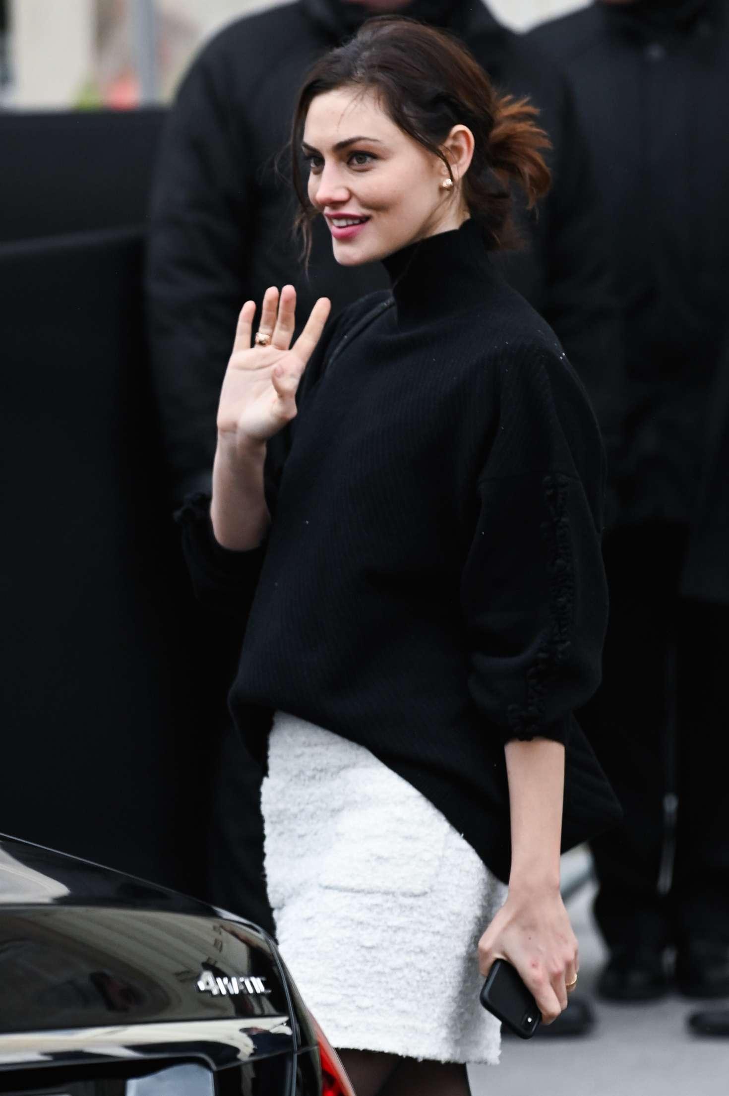 Phoebe Tonkin - Outside Chanel Show in Paris