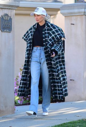 Pia Mia - Dons plaid oversized jacket in Los Angeles
