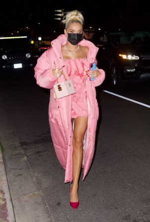 Pia Mia - In all pink at The Nice Guy in Hollywood