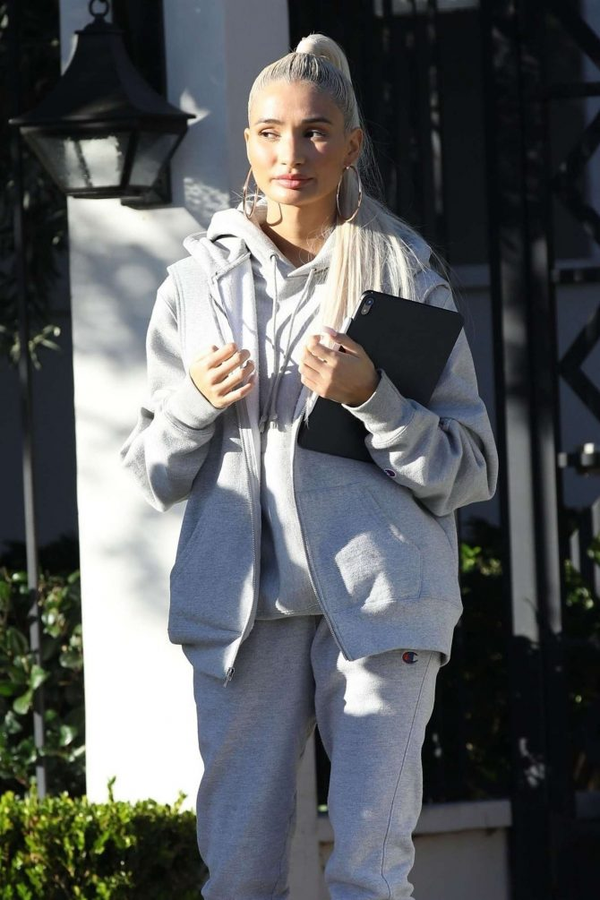 Pia Mia Perez at Gracias Madre in West Hollywood