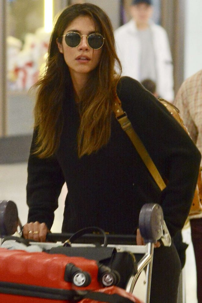 Pia Miller - Arrives at Airport in Australia
