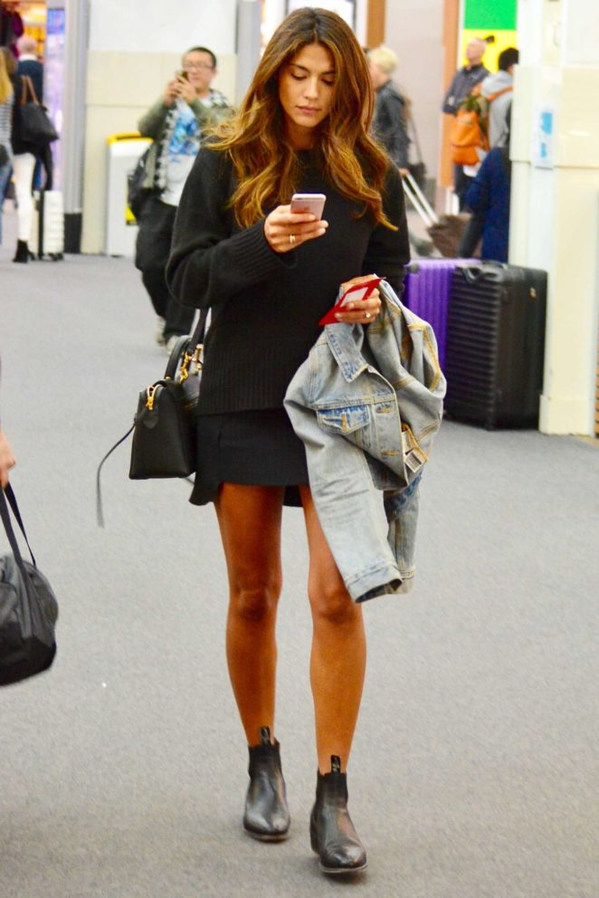 Pia Miller in Mini Skirt out in Melbourne