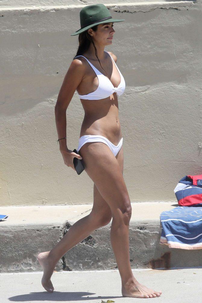 Pia Miller in White Bikini 2019 -01