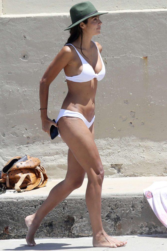 Pia Miller in White Bikini 2019 -07