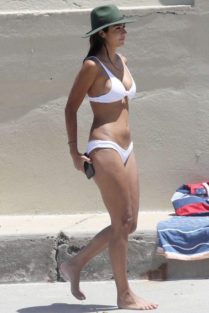 Pia Miller in White Bikini 2019 -08