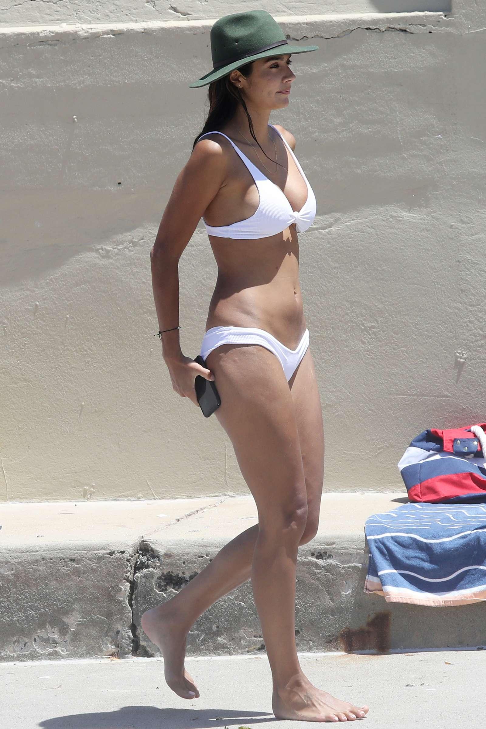 Pia Miller in White Bikini at a beachin Sydney
