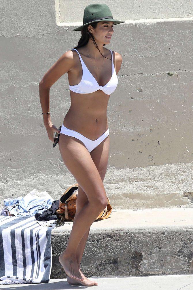 Pia Miller in White Bikini 2019 -15