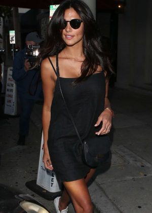 Pia Miller - Leaves Craig's Restaurant in West Hollywood