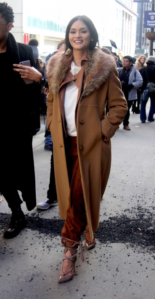 Pia Wurtzbach Attending to a NYFW Show 2016 -09