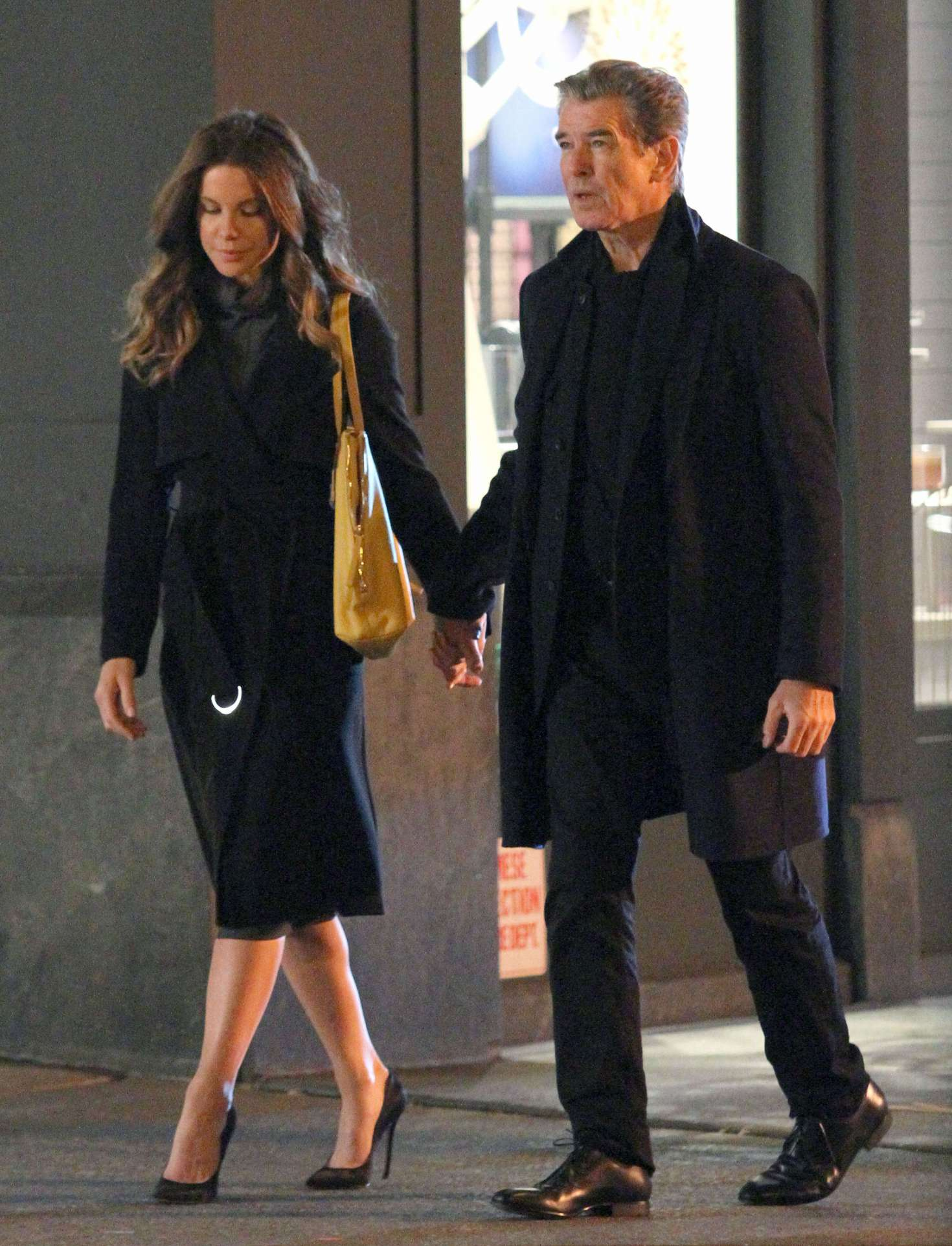 Pierce Brosnan and Kate Beckinsale on 'The Only Living Boy In New York' set in Manhattan