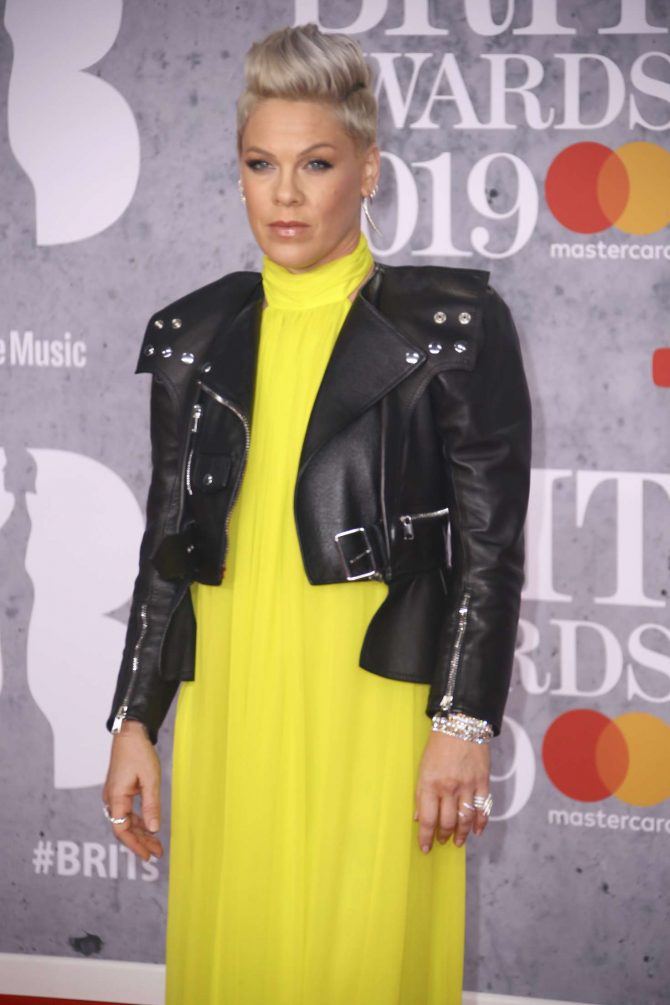 Pink – 2019 BRIT Awards in London