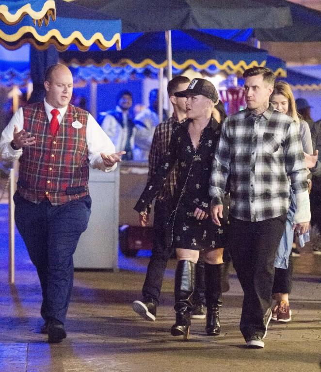Pink and her husband Carey Hart at Disneyland