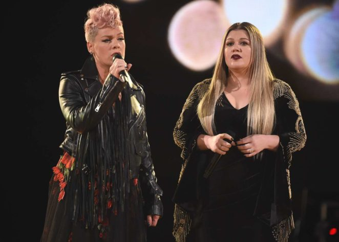 Pink and Kelly Clarkson - Performs at 2017 American Music Awards in LA