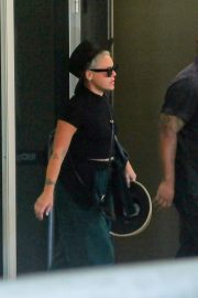 Pink - Arrives at Galeao Airport in Rio De Janeiro