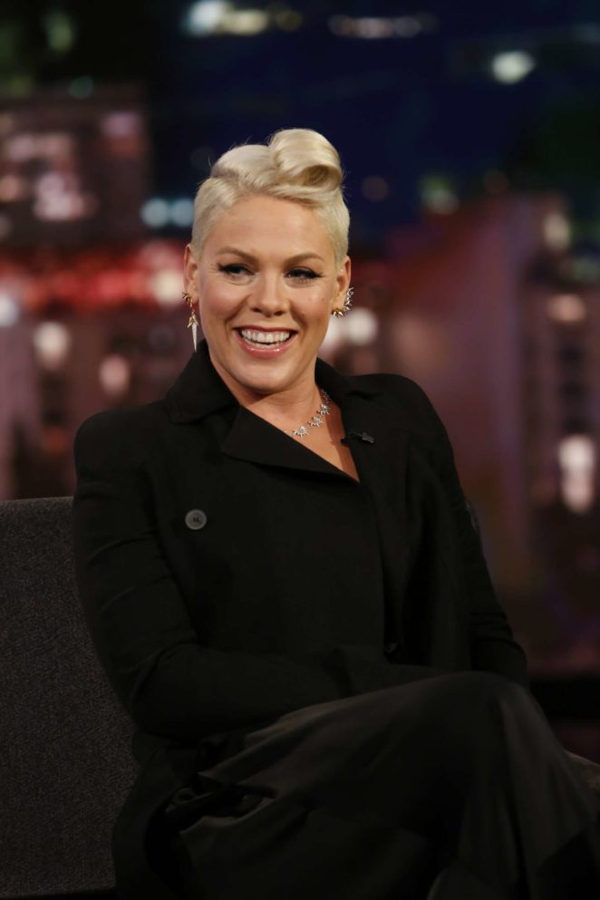 Pink at Jimmy Kimmel Live! in Los Angeles