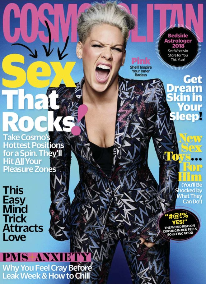 Pink - Cosmopolitan US Magazine (January 2018)