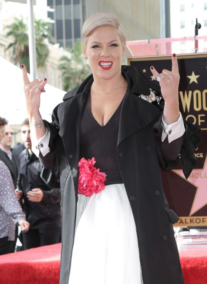 Pink – Getting her star on The Hollywood Walk of Fame in Hollywood