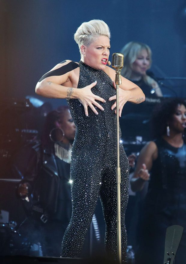 Pink - Performing on her Beautiful Trauma Tour in Liverpool