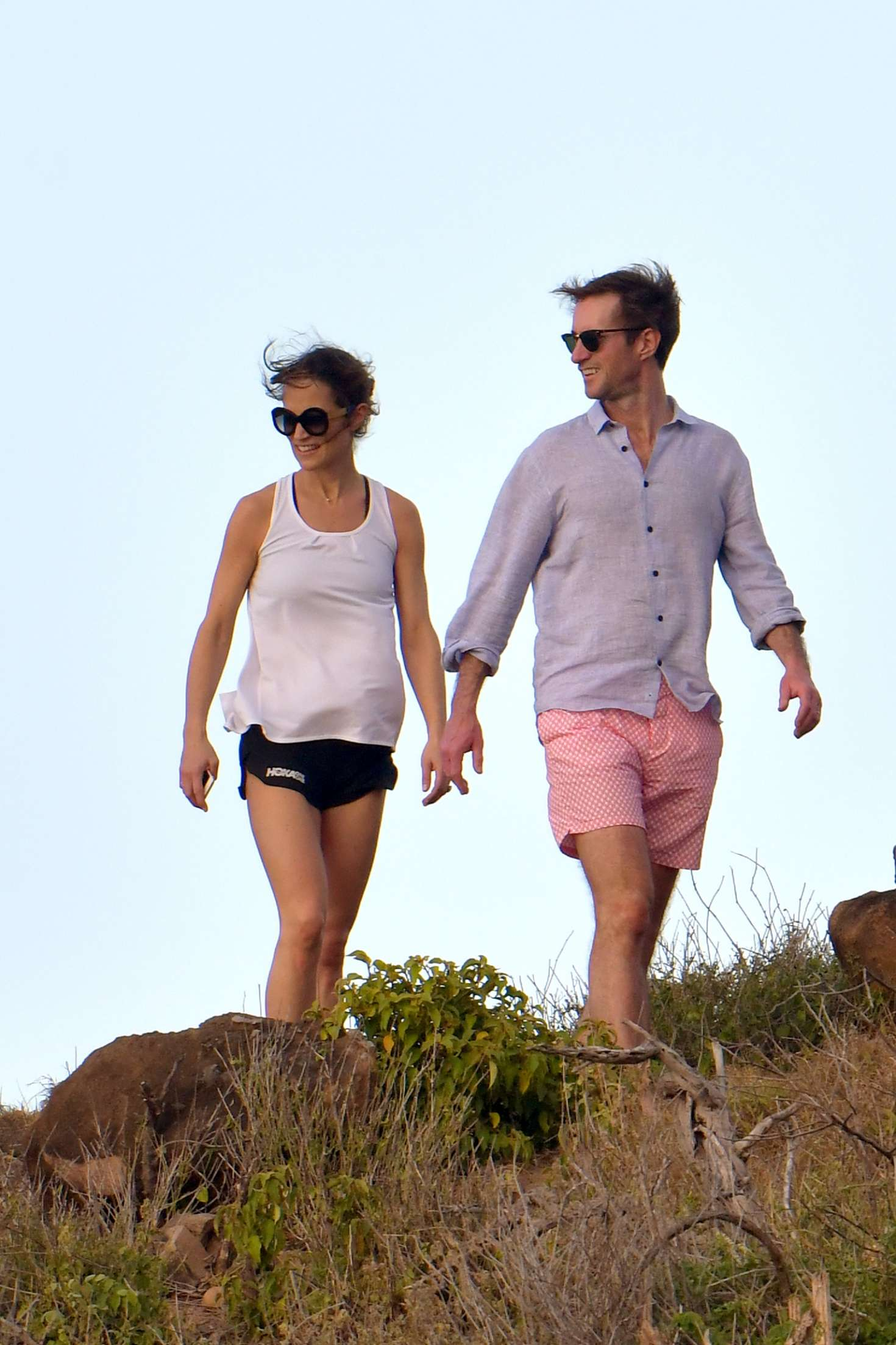 Pippa Middleton and James Matthews at Colombier beach in St Barts