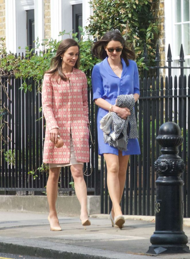 Pippa Middleton at a church service in London