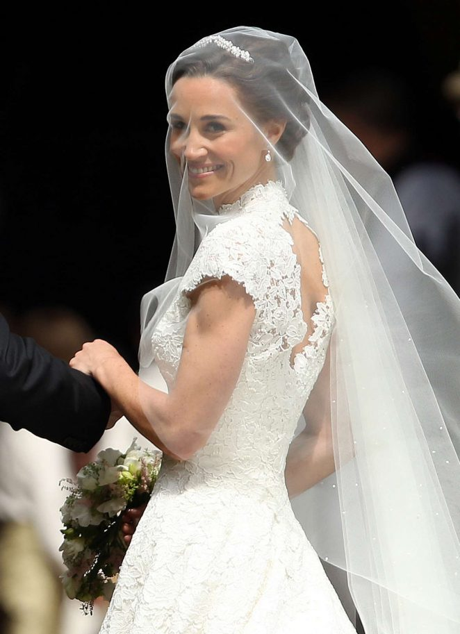 Pippa Middleton at her wedding at St Marks Church in Englefield